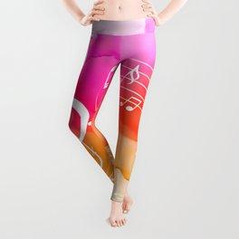 Watercolor, Musical Notes, watercolor t-shirt, watercolor sticker Leggings