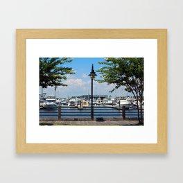 Riverfront Scene Framed Art Print