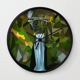Geometric Multnomah Falls  Wall Clock