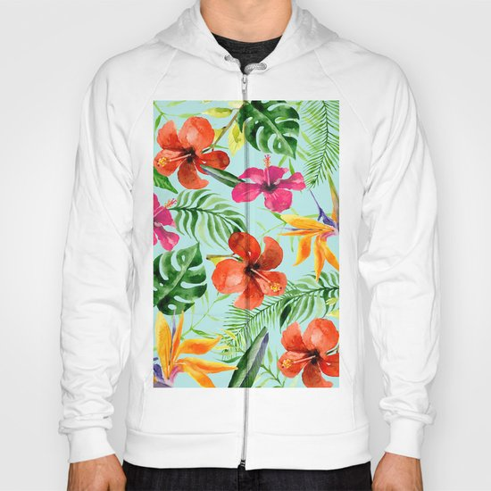 Colorful Tropical Pattern Hoody