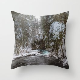 A Quiet Place - Pacific Northwest Nature Photography Throw Pillow