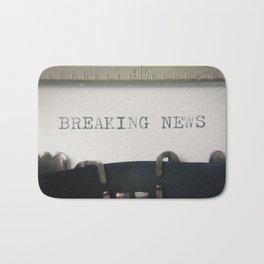 Typewriter macro breaking news Bath Mat