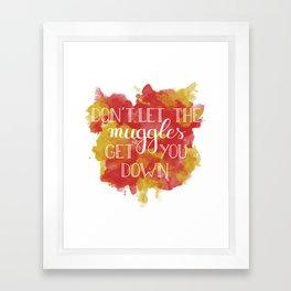 Don't let the muggles get you down Framed Art Print