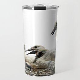 Storks and Fledglings Vector Travel Mug