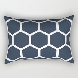 Dark blueHoneycomb pattern Rectangular Pillow