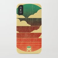 sun iPhone & iPod Cases featuring Go West by Picomodi