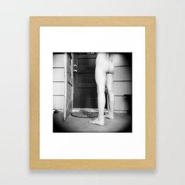 """Flickers like a Lamp"" Framed Art Print"