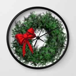 Merry Christmas Wreath DP161212g Wall Clock