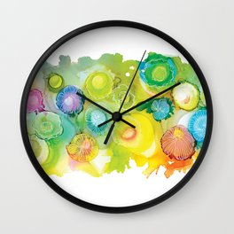 Alcohol Ink - Rainbow Landscape Wall Clock