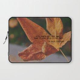 Autumn leaf by Giada Ciotola Laptop Sleeve