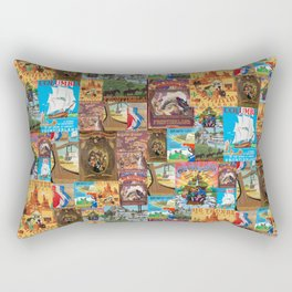 Frontierland Vintage Attraction Posters Rectangular Pillow