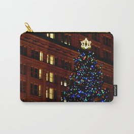 CHRISTMAS TREE - DOWNTOWN - HAPPY HOLIDAYS Carry-All Pouch