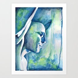 She's Turning Blue Art Print