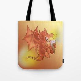 Dragon Cooling Down Tote Bag