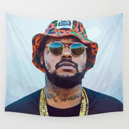 SBQ - Schoolboy Q Watercolor Wall Tapestry