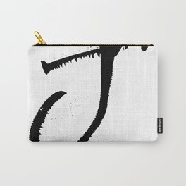 Letter J Ink Monogram Carry-All Pouch
