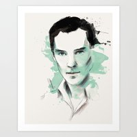 cumberbatch Art Prints featuring Benedict Cumberbatch by charlotvanh