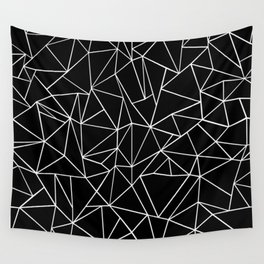 Abstraction Outline Black and White Wall Tapestry