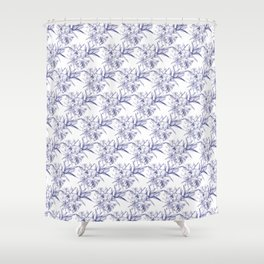 Lilium Speciosum (white) Shower Curtain