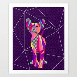 Prisma Cat Art Print