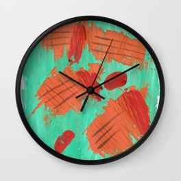 Traces on a grass... Wall Clock