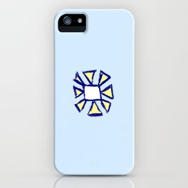 flower and square iPhone Case