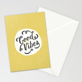 good vibes logo new art love cute 2018 2019 style yellow vibes beach new hot style fashion case cove Stationery Cards