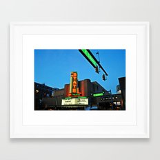 State Theatre, Ann Arbor Michigan Framed Art Print