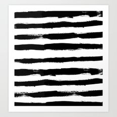 Black Stripe Pattern Art Print