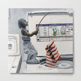 Sock Thief Fishing Criminal Fantasy Art Metal Print