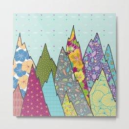 Mountains of Patterns Metal Print