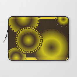 Brown and Yellow Circles Laptop Sleeve