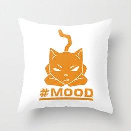 #MOOD Cat Orange Throw Pillow