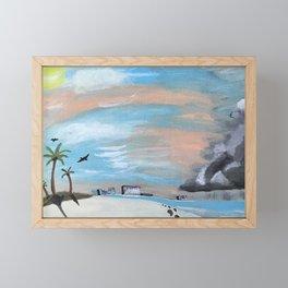 Summer Storm Framed Mini Art Print