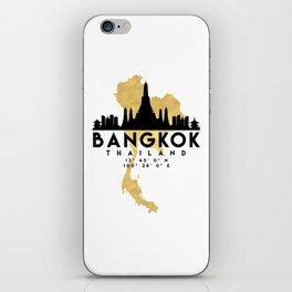 BANGKOK THAILAND SILHOUETTE SKYLINE MAP ART iPhone Skin