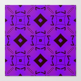 Vivid Purple on Black Diamonds Canvas Print
