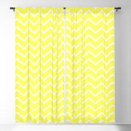 Zigzagged (White & Yellow Pattern) Blackout Curtain