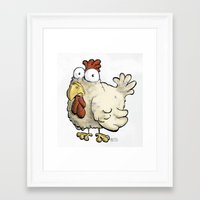 chicken Framed Art Prints featuring Chicken by Ky Betts