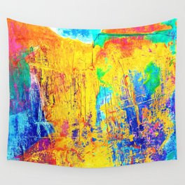 Imaginäre Landschaft - Ölgemälde auf Leinwand Wall Tapestry