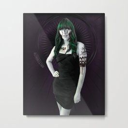 Ghoulish Glamour - Cactus Queen Metal Print
