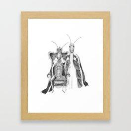 Royal Grasshoppers Framed Art Print