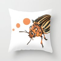 insect Throw Pillows featuring Insect by Chiara Martinelli Creations