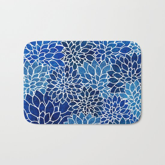 Floral Abstract 14 Bath Mat