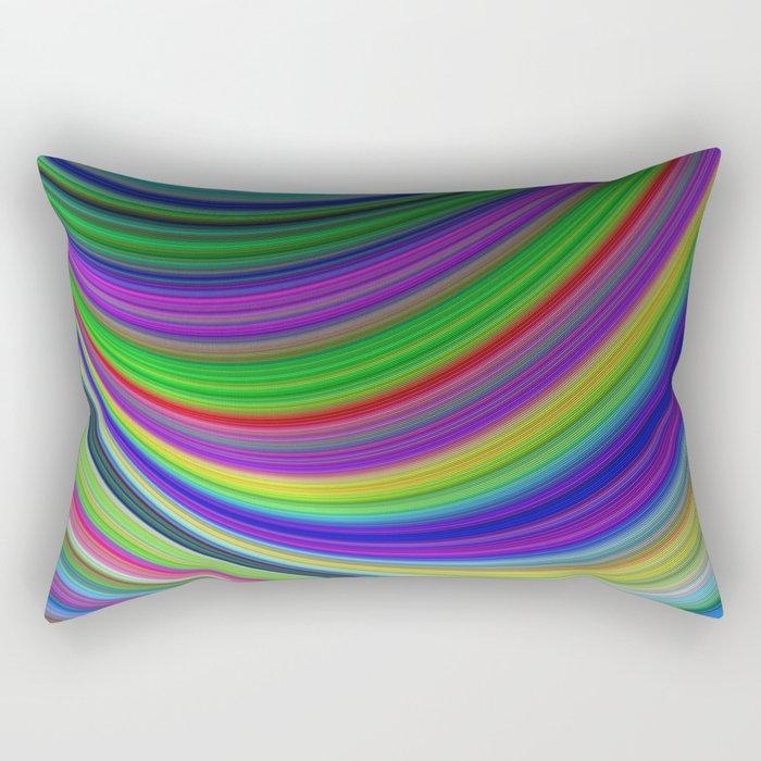 Color curves Rectangular Pillow