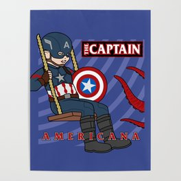 Captain Americana Poster