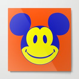 Mickey Mouse Smiley Face #1 Metal Print