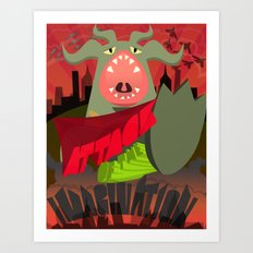 Attack of my Imagination Art Print