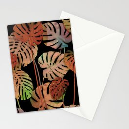tropical old monsteras Stationery Cards