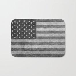 American flag - retro style in grayscale Bath Mat