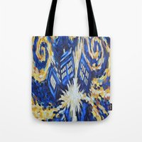 dr who Tote Bags featuring Dr Who by giftstore2u